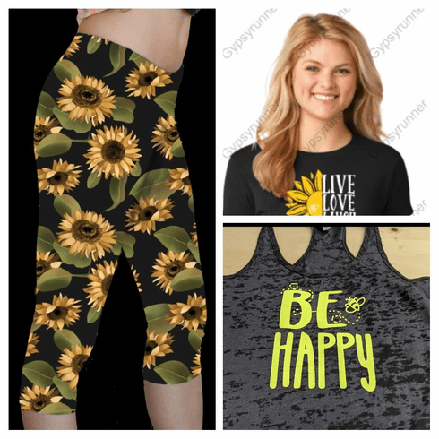 Double pocket capris Sunflower and Be Awesome