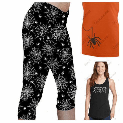 Double pocket capris with tank top
