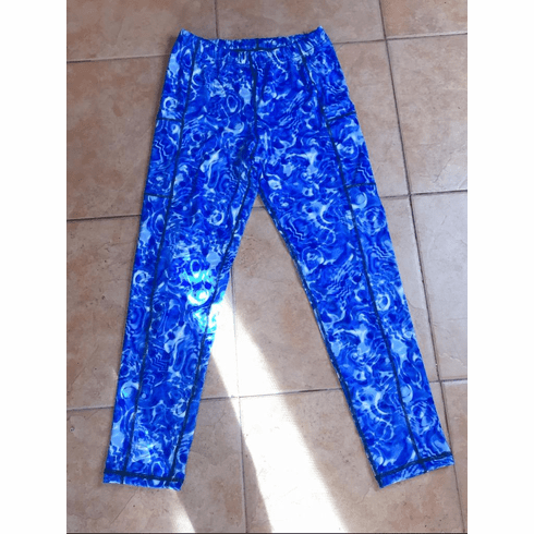 Double pocket pants cold gear blue marble