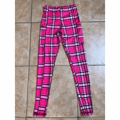 Double pocket pants cold gear pink plaid STOCK