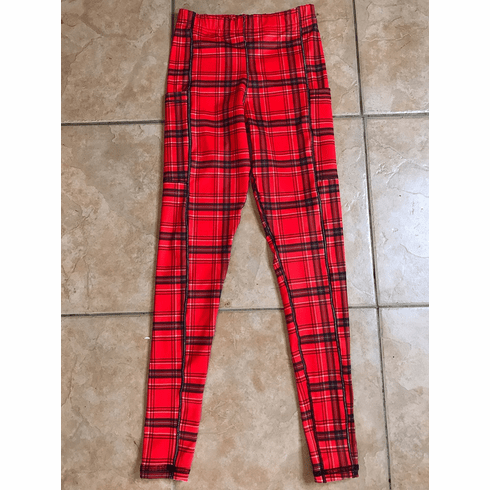 Double pocket pants cold gear red plaid stock
