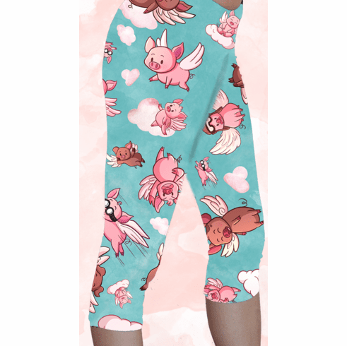 Double pocket pants flying pig