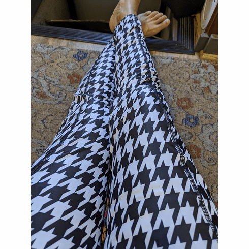 Double pocket pants houndstooth