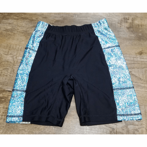 Double Pocket Shorts Black with reflective panel