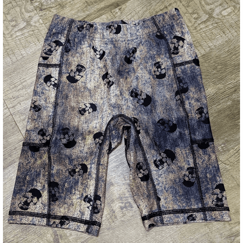 Double pocket shorts Denim skull