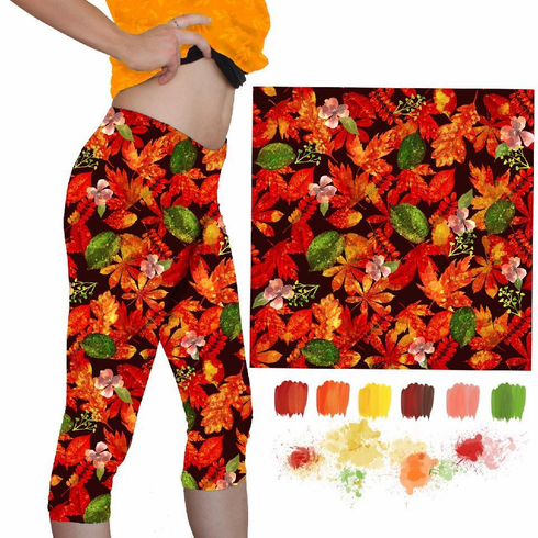 Double Pocket Shorts Falling Leaves