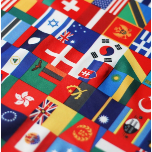 Double pocket shorts international flags