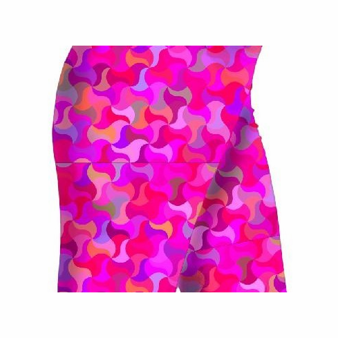 Double pocket shorts pink puzzle
