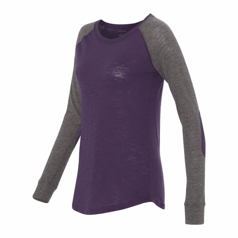 Raglan with elbow patch Purple