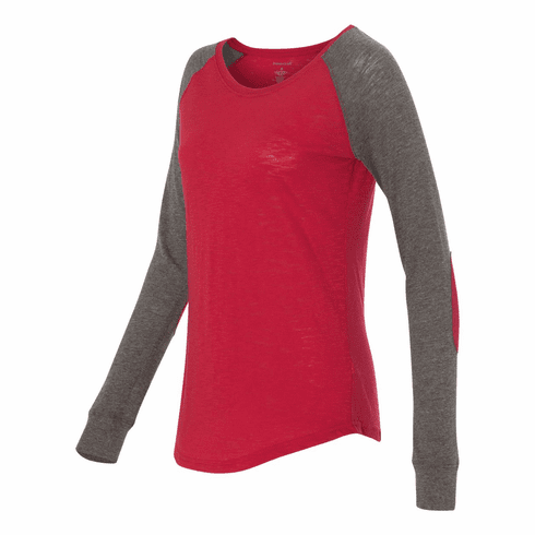 Raglan with elbow patches Red
