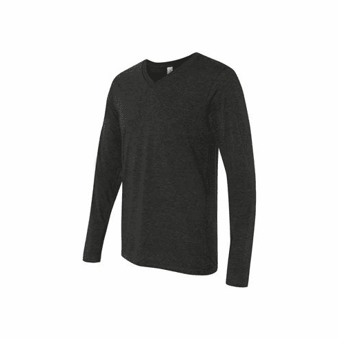 Unisex Long sleeve triblend charcoal
