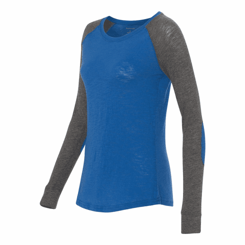 Raglan with elbow patches royal