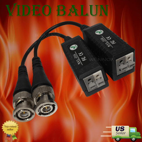 1 Pairs(2 Pcs)Single Channel Passive Video Balun for CCTV use/Zmodo
