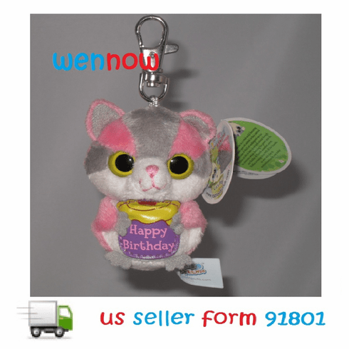 10791 Sugar Glider Greeting YooHoo W/Happy Birthday Clip-On
