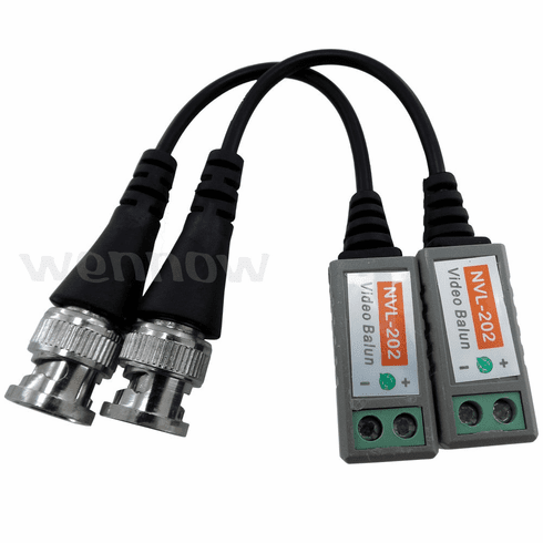 12 Pack ( 6 pair ) Camera CCTV BNC CAT5 Video Balun Transceiver Cable