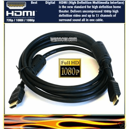 15ft HDMI Cable 1.3v cat.2 1080p 28AWG w/Ferrite Core