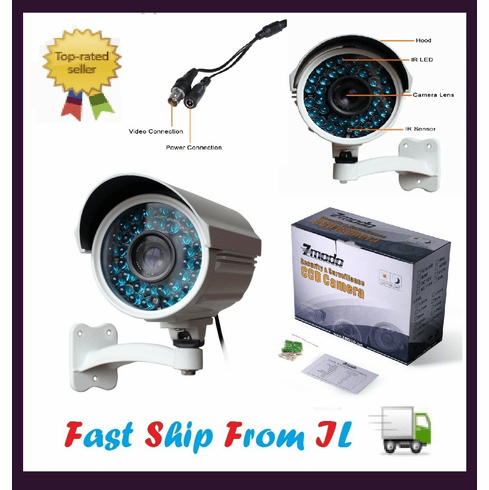 200ft Long Range Night Vision Sony CCD Security Video Audio Camera