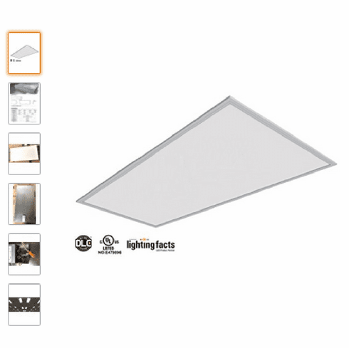"2Pack UL DLC 105lm/W 50W LED 2x4"" Dimmable LED Panel Light (4000K)"