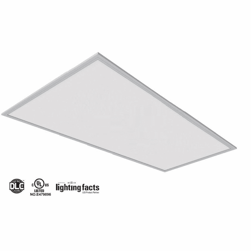 2Pack UL DLC 105 lm/W 50W 5000K LED Drop Ceiling 2x4' LED Panel Light