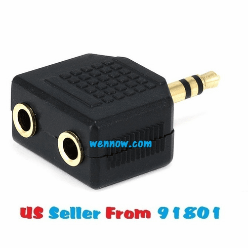 3.5mm Stereo Plug to 2 x 3.5mm Mono Jack Splitter Adapt
