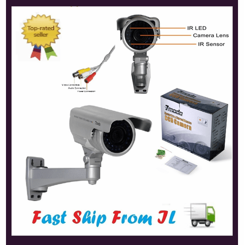 4-9mm Vari-focal 100ft IR CCD Video Audio Surveillance CCTV Camera