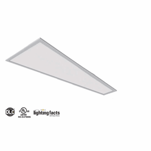 "4pcs UL DLC4.3 105 lm/W 40W LED Drop Ceiling 1x4"" 5000K Panel Light"