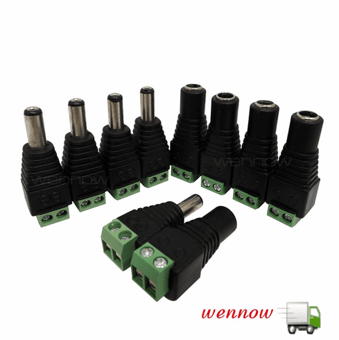 50pcs Male and 50pcs Female DC Power Jack Adapter Connector