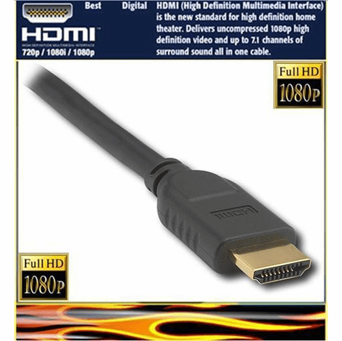 6ft HDMI Cable 1.3v cat.2 (1080p) w15