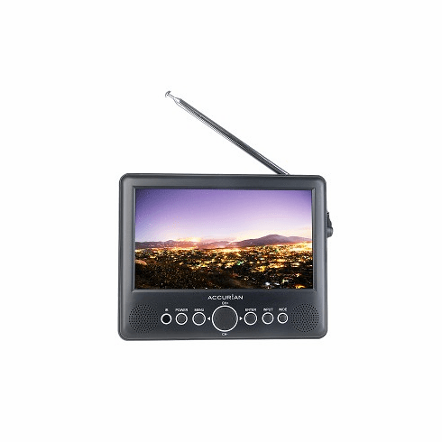 "7"" Accurian 16-454 Portable Handheld Widescreen LCD TV"