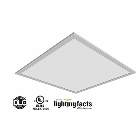 8pcs UL DLC4.3 105 lm/W 40W LED Drop Ceiling 2x2' 4000K Panel Light