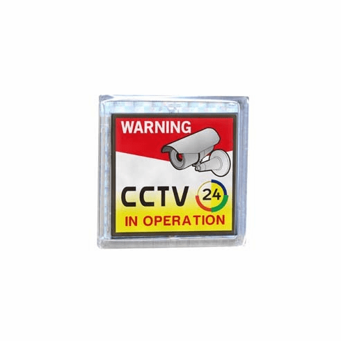 "ACS-801 3.15""x3.15"" Solar Flash CCTV Warning Signboard"