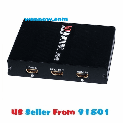 Aluminum 2X1 Manual HDMI Switch - Push Button Type