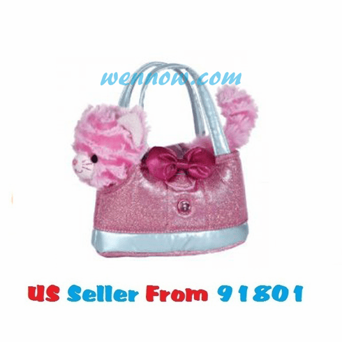 Aurora Plush Pink Frilly Milly Kitty Cat Purse Carrier