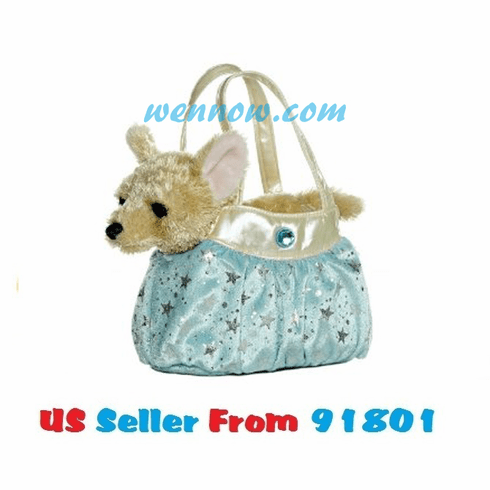 Aurora World Shimmery Ice Blue Fancy Pals Pet Carrier