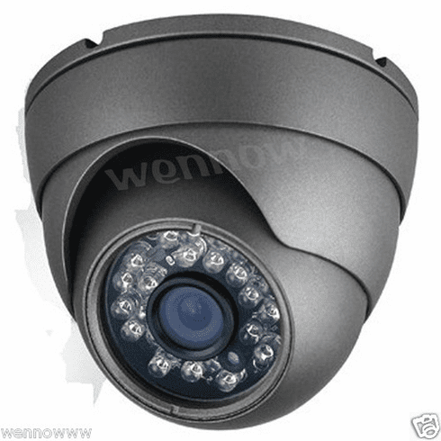 "Black DC12V 1/3"" PlxelPlus,600 TVL,3.6mm Fixed Lens 23 IR LEDs,Dome Camera"