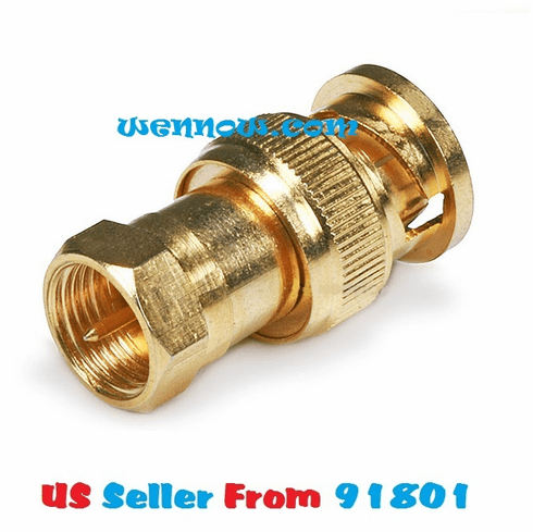 BNC Male to F Male Adaptor - Gold Plated