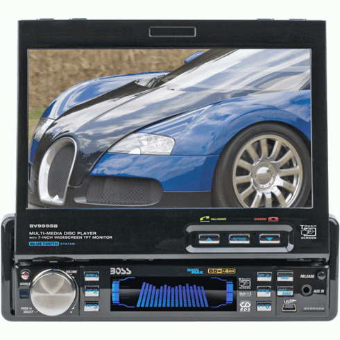 Boss BV9995B 7?Motorized Single-DIN Touch Screen Monitor/Receiver
