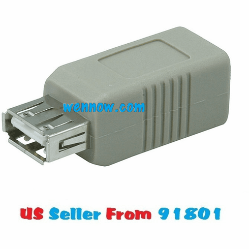 Brand New USB 2.0 TypeA Female to TypeB Female Adaptor