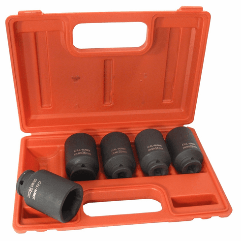 "Cal Hawk Tools BSSAN5P 5 Piece 1/2"" Drive Deep Impact Socket Set"