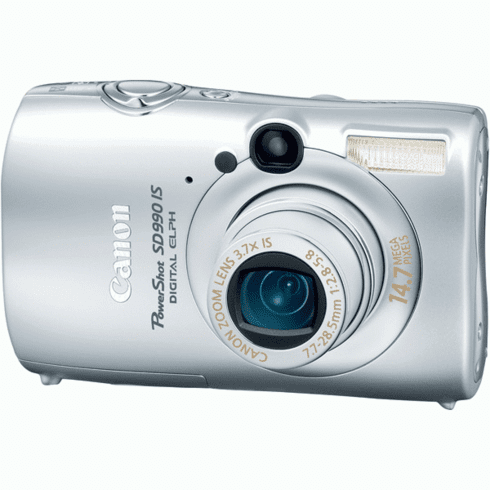 Canon PS-SD990ISSV Silver 14.7MP Digital Camera with 3.7x Optical Zoom
