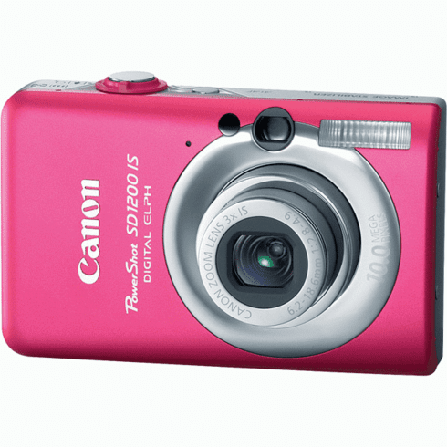 Canon SD1200IS PINK Pink 10MP Compact Digital Camera