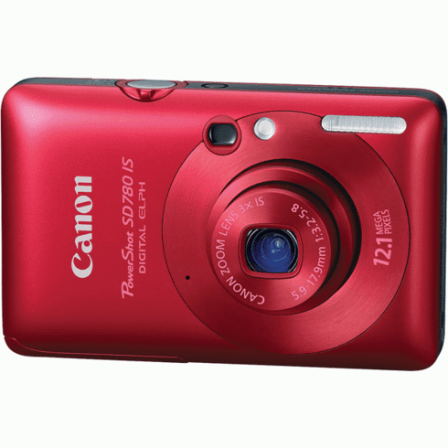 Canon SD780 IS RE Red 12MP Digital Camera with 3x Optical Zoom