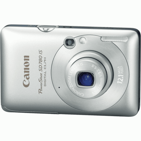 Canon SD780 IS SL Silver 12MP Compact Digital Camera with 3x Optical Zoom