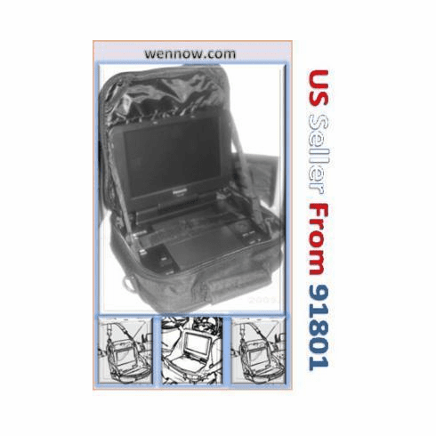 Car & Carrying Case for Portable DVD Players upto 10""