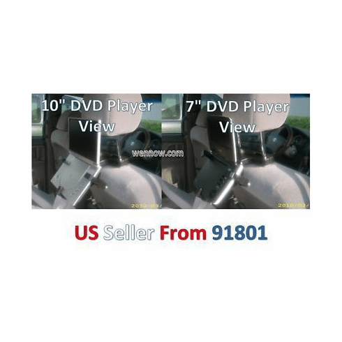 "Car Mount for Portable DVD Players & TVs Upto 10"" w16"