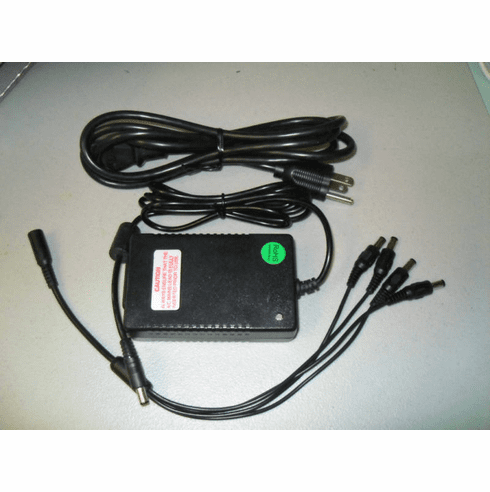 CCTV 4-way splitter w/power adapter 12V 4.5A