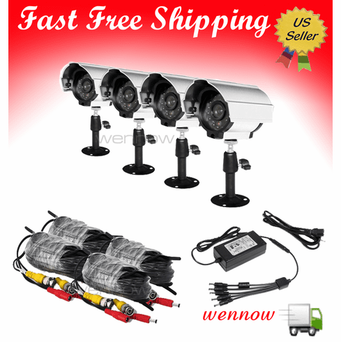 Color IR Weatherproof Outdoor Security Camera Kit PKC-4074A35