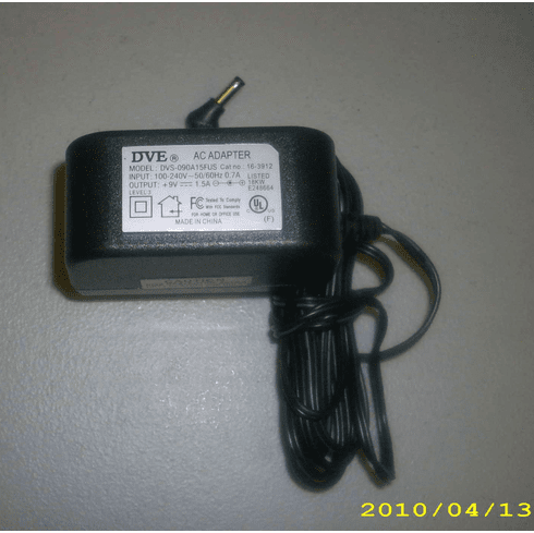 DVE DVS-090A15FUS 9V 1.5A AC Power Adapter