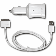 Dynex-Car Charger for iPod and MP3 Players-White Model DX-IPDC2