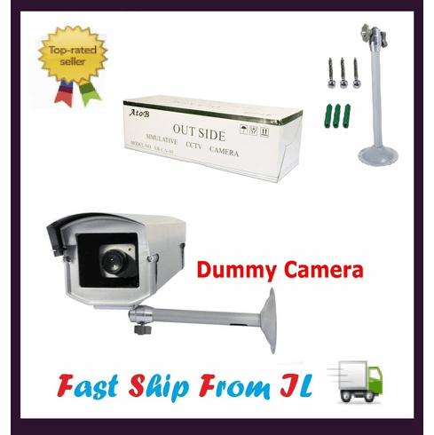 Fake Dummy Security Camera with LED Light Blinks CM-D10010